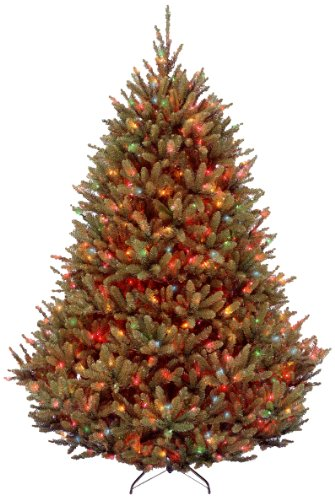 National Tree 7.5 Foot Natural Fraser Fir Tree with 1000 Multicolor Lights, Hinged (NAFFMH1-75RLOS1)