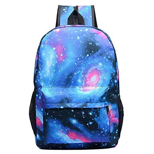BAIGIO Mochilas Escolares Juveniles, Mochila Escolar Galaxia para Niño Niña Mochila para Estudiantes Cool Unisex Galaxy (Azul Galaxia-1)