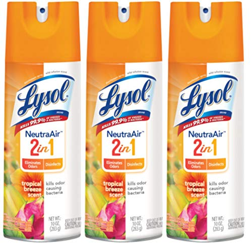 Lysol Disinfectant Spray - Neutra Air™ Tropical Breeze 10 oz (Pack of 3)
