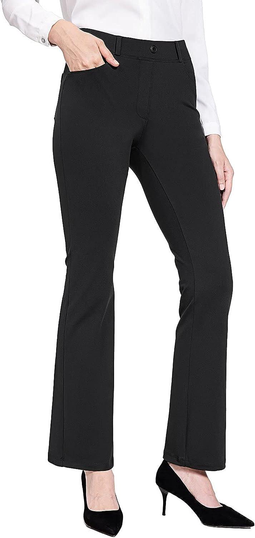 BALEAF Women's Max 90% OFF Yoga Dress 5 ☆ popular Pants Bootcut Work Business Sl Stretch