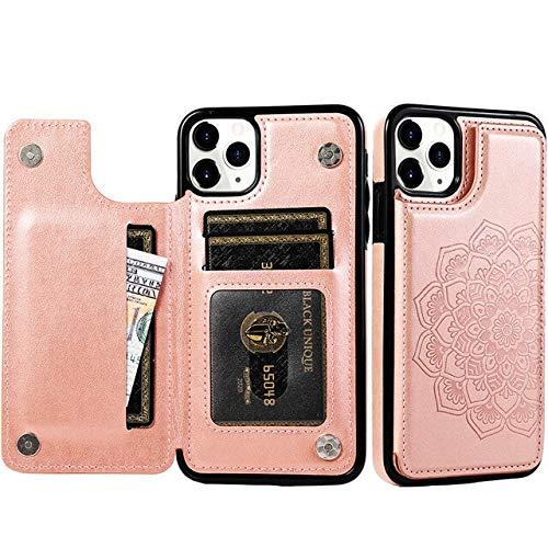 RZL Teléfono móvil Fundas para iPhone Mini 12 SE 2020, Flor de Lujo Cartera de Cuero Caso del iPhone para 11 Pro XS MAX XR X 6 6s 7 8 Plus 5 5s Cubierta del teléfono