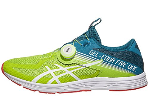 ASICS Men's GEL-451 Running Shoes, 7.5M, NEON Lime/White