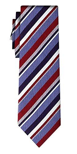 Cravate soie rayée stripe burg blue