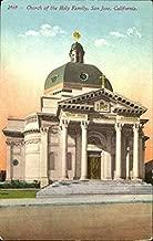 Church Of The Holy Family San Jose, California Original Vintage Postcard