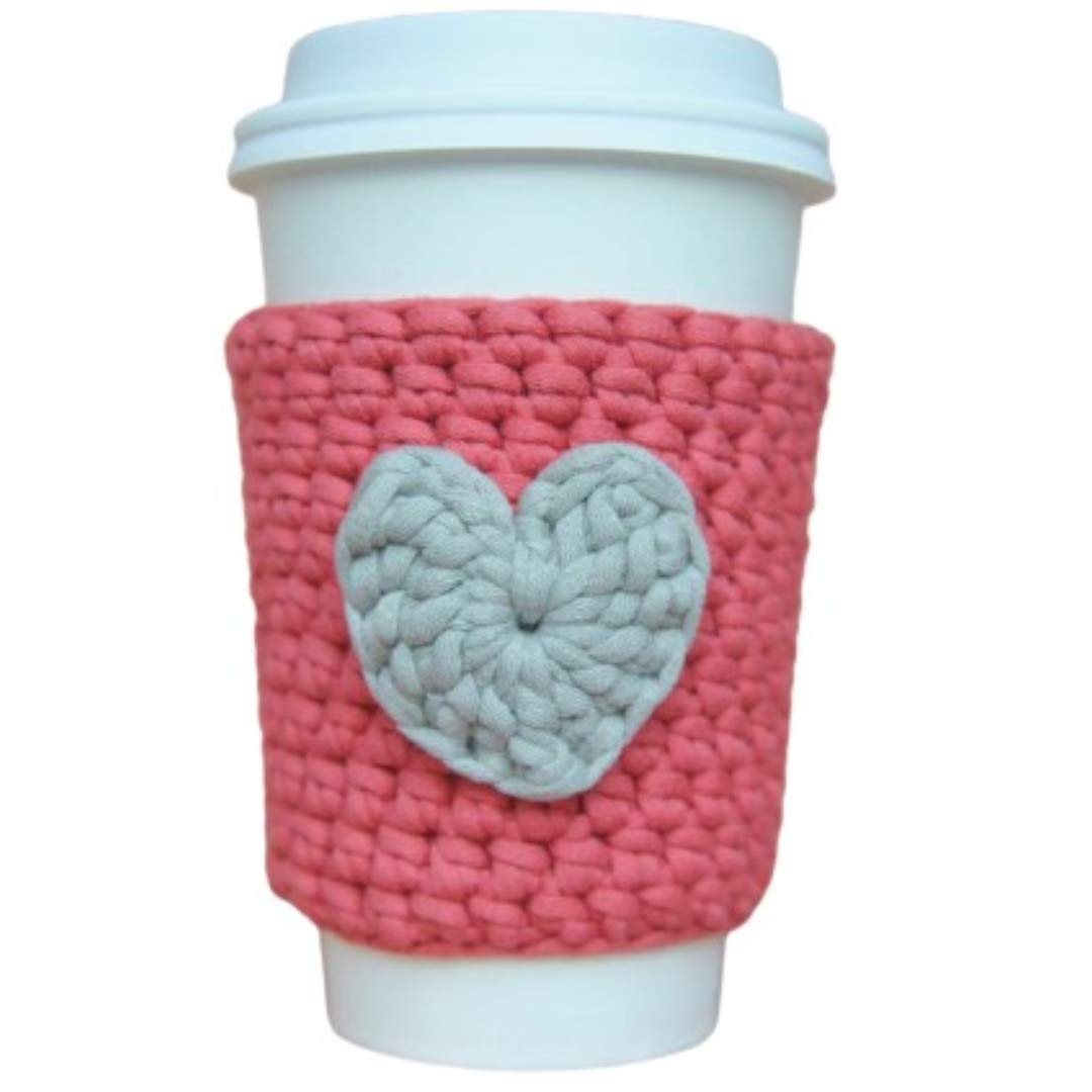 Coffee High Ranking TOP12 quality Cup Cozy Sleeve with Heart Reusable
