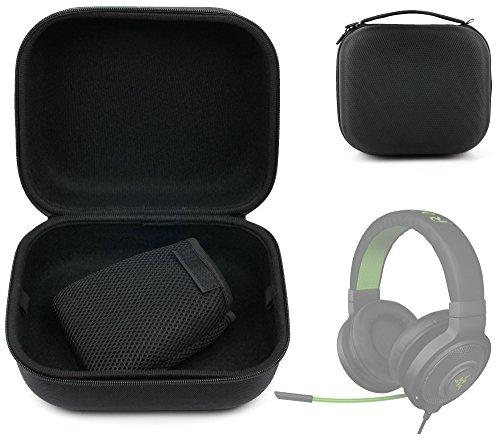 Preisvergleich Produktbild DURAGADGET Robuste Schutzhülle Breite für Razer Kraken Pro und Trust 20408 GXT 322 Dynamic Kopfhörer Gaming