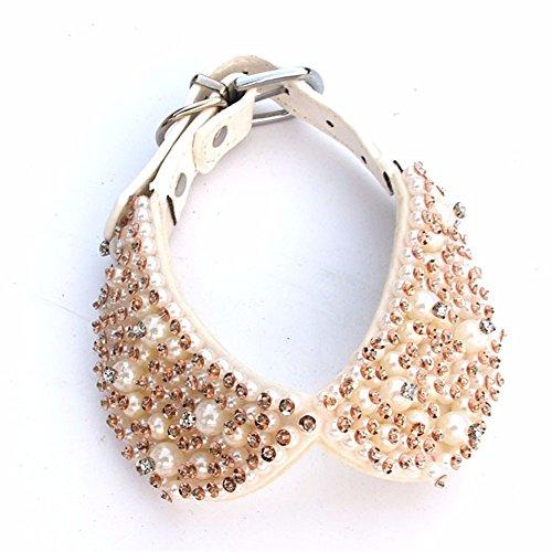 Pet Online Collar de perro mascota moda collar perla decoración