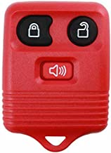 KeylessOption Red Replacement 3 Button Keyless Entry Remote Control Key Fob Clicker