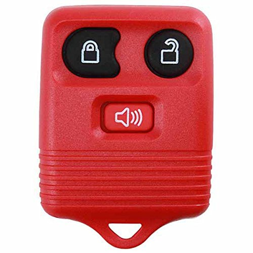 KeylessOption Red Replacement 3 Button Keyless Entry Remote Control Key Fob...
