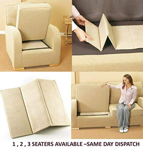TheWhiteWater - Tabla de rejuvenecimiento para asiento de sofá 1-2-3, 3 Seater