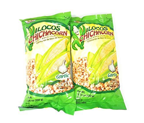 Ilocos Chichacorn Cornick Corn Nuts - Garlic Flavor, 12.35 oz (350g), 2 Pack