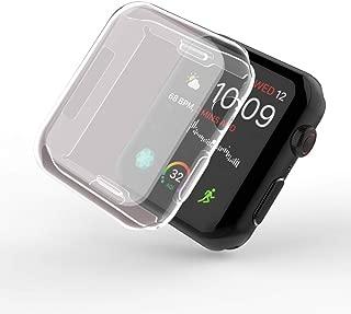 Smilelane Apple Watch Series 4 44mm ケース, 柔らかい TPU ウオッチ保護ケース超薄型カバー新しいアップルウォッチシリーズ 4 ケース 44mm (2枚)