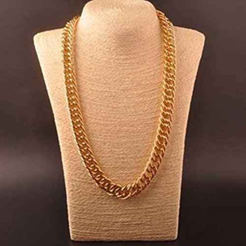 OULII Hip Hop Necklace Rapper Necklace 60cm Gothic Hip Hop Chunky Chain for Men Women Jewelry Decoration Gold