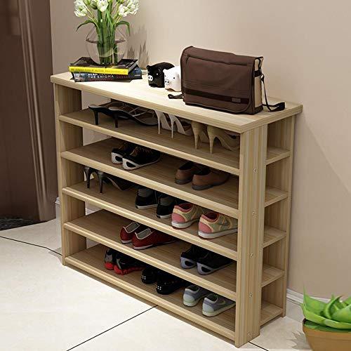M-YN Zapatero 5 gradas de Madera apilable Almacenamiento de Zapatos Organizador Estante Soporte de Estante for 15 Pares, Ahorro de Espacio, Fácil de ensamblar (Color : D, Size : 70 * 24 * 99CM)