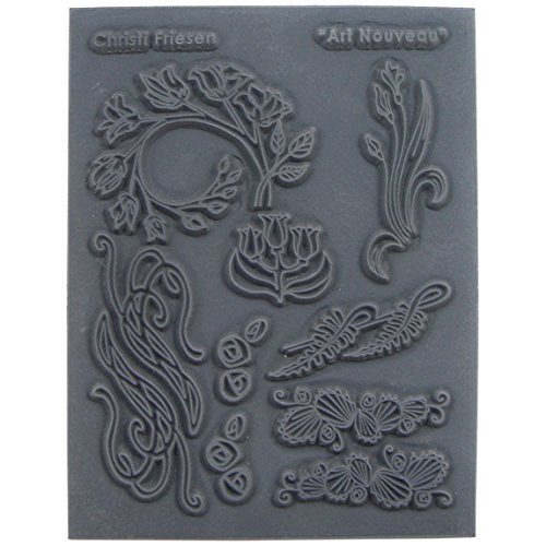 Great Create Christi Friesen Texture Stamp, 5.5-Inch by 4.5-Inch, Art Nouveau, 1-Pack