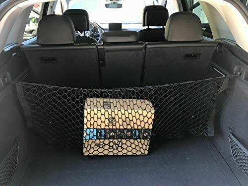 Rear Trunk Area Black Vertical Envelope Middle Style Storage Organizer Web Mesh Luggage Bungee Compartment Cargo Net [Red De Carga Del Maletero Trasero] for AUDI Q5 SQ5 Q5 Hybrid Q5 TDI 2009-2020 New