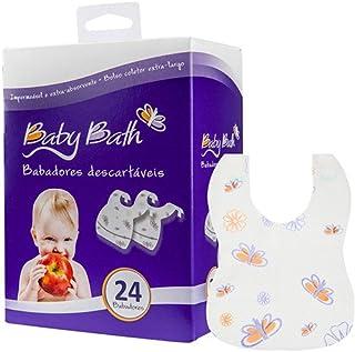 Baby Bath Babadores Descartáveis, Branco
