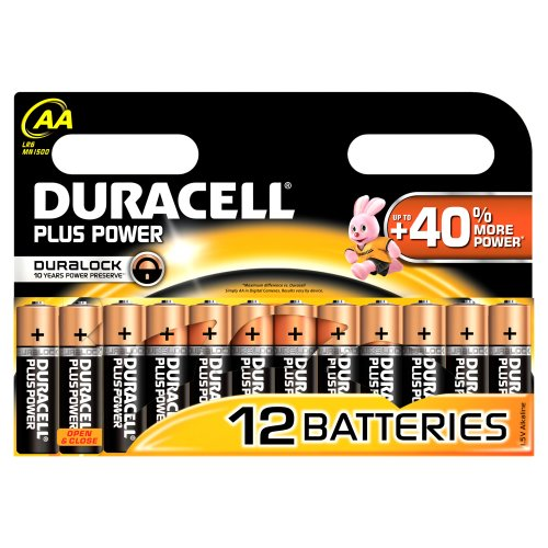 Duracell Duralock Plus Power AA (LR6) Batterien, 12 Stück