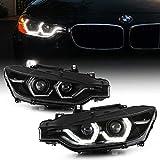 ACANII - For 2012-2015 BMW F30 320i 328i 335i Sedan HID w/AFS Black Housing LED...