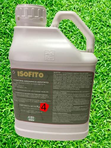 NOVAS ITALIA Concime Biologico Organico azotato Liquido Alghe Brune ISOFITO tanica kg 4 Potente Antistress Radici e Piante Forti con Omaggio misurino dosatore