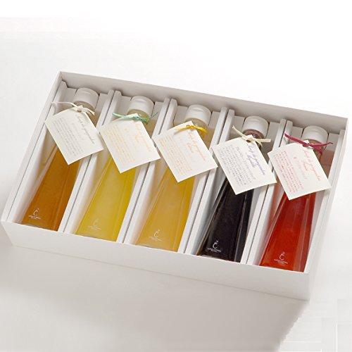 銀座のジンジャー 定番 5本セット(プレーン、柚子、レモン、ブルーベリー、苺) 1箱[計1,000ml]ジンジャーシロップ・ギフトボックス