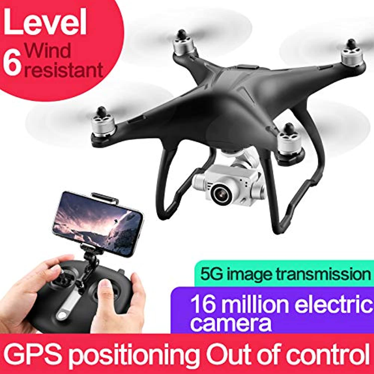 OUYAWEI SMRC Q3 Brushless 5G WIFI FPV Double GPS 1080P Wide Angle Camera Self-Stabilizing Gimbal Altitude Mode RC Drone Quadcopter RTF 3 battery
