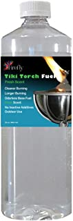 Firefly Fresh Scent Tiki Torch Fuel - Significantly Longer Burn - Odorless - Less Smoke - Gold Standard - 32 Ounces