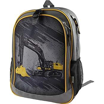 John Deere Boys  Child Excavator Backpack Grey
