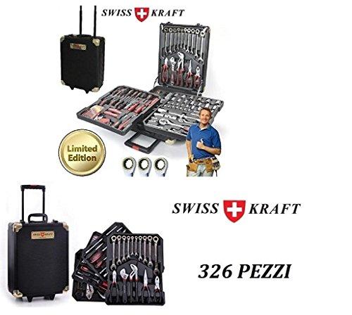 TOP SHOP gereedschapskoffer gereedschapskoffer bestaande uit 326 delen Swiss Kraft legering chroom kuip