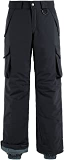 Wantdo Men's Waterproof Warm Padding Insulated Snow Pants Cargo Pants