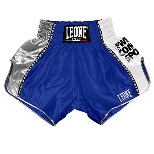 LEONE 1947 (LEORC) Training Pantaloncino Kick-thai, Unisex – Adulto, Blu, XL