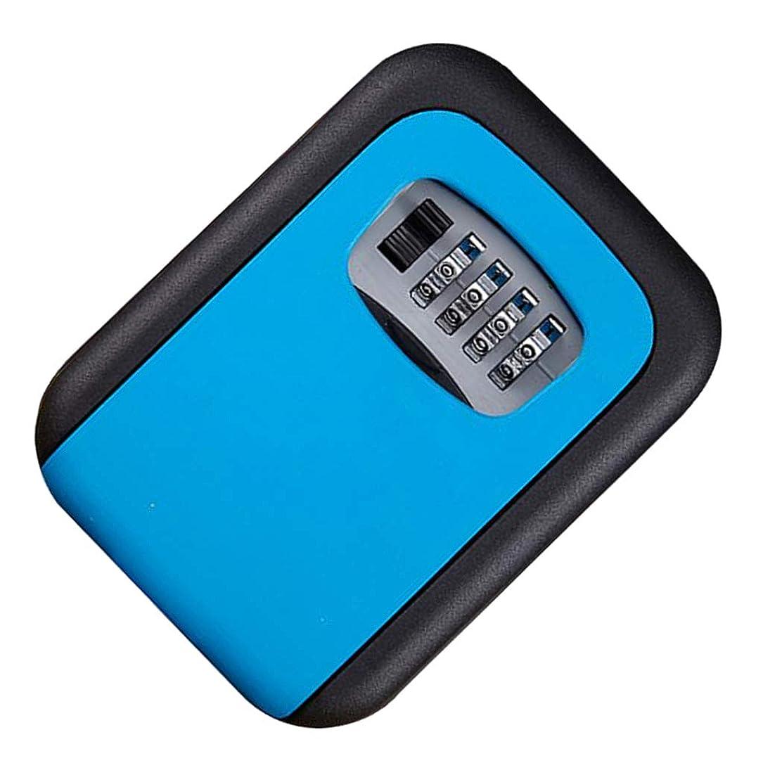 うめき例外発明する屋内および屋外のメカニカルロック付きキーのキー収納ボックスオーガナイザー - 青