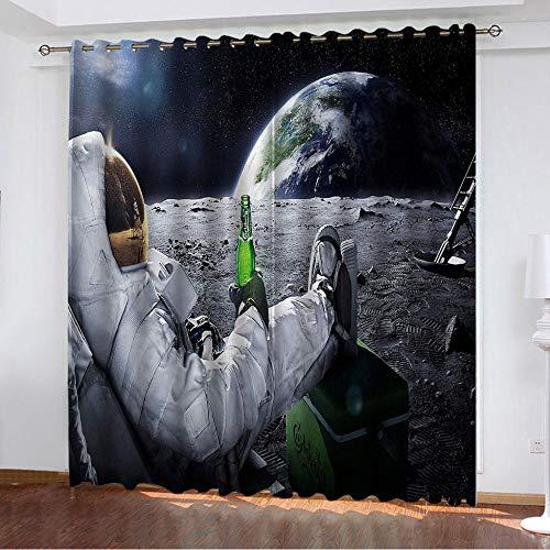 Vorhang Blickdicht 3D Verdunkelungsvorhang mit Ösen,Thermogardine für Wohnzimmer Schlafzimmer...