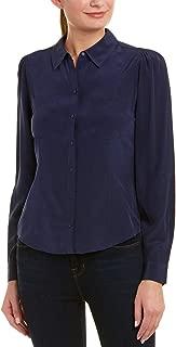 Joie Womens Bladina Silk Top, Xs, Blue