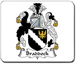 Braddock Family Crest Coat of Arms Mouse Pad