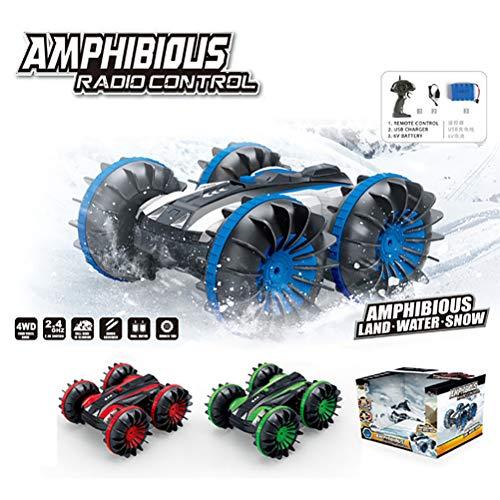 AimdonR 2.4Ghz All Terrain RC-Cars wasserdichtes Auto-Fernsteuerungsboot - 1/18 Scale Double Sides Stunt-Fahrzeug mit 360-Grad-Drehungen und -Flips