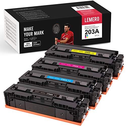 LEMERO 4 Toner Kompatibel für HP 203A CF540A CF540X 203A für HP Color Laserjet Pro M254nw M254 M254dw MFP M281FDW M281 M281CDW M281FDN M280 M280NW Drucker