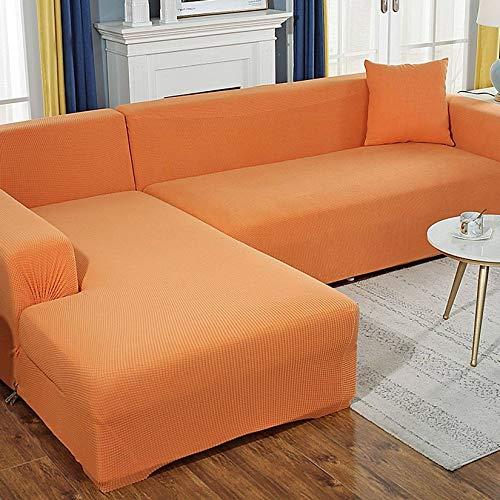 Unmbo Spandex Sofabezug 5 Sitzer, L Form Kissenbezüge, Stretch Sofa Schonbezug Ersatz Anti-Slip Furniture Protector-5 sitzer(305-360cm)-I