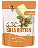Naturise Shea Butter Raw Organic Unrefined Ivory 16 oz (1 LB), Highest Grade African Shea Butter, Great for DIY Skincare Products and Body Butter Moisturizer for Dry Skin, Eczema, and Hair Care