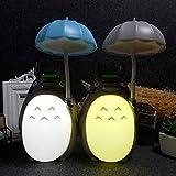 GGJC 2 piezas Totoro luz nocturna lámpara de mesa anime con carga USB para niños niñas Navidad u otras celebraciones