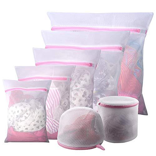 7 Bolsas de Malla para la Colada, Bolsa de Lavandería Cremallera, Reutilizables y Duraderas, para Ropa Delicada, Como Blusas, Lencería y Ropa de Bebé