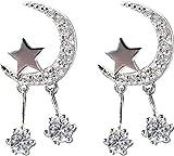 Pendientes Súper hadas estrella luna pendientes exquisita moda popular clásico borla pendientes exquisita moda popular c