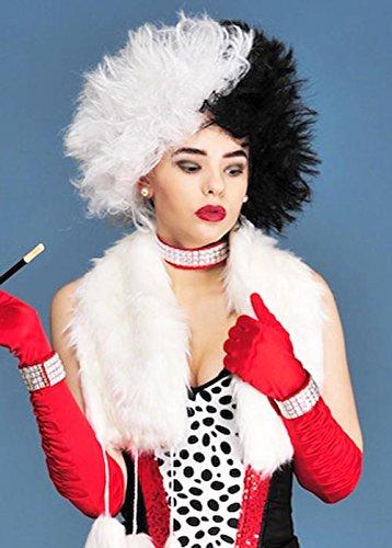 Perruque de Cruella Deville Style mal Madame
