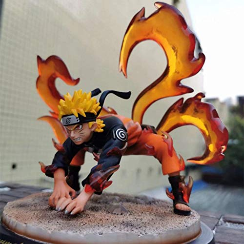 Zqcay Action Figure Model Action Figures Uzumaki Naruto Nine-Tailed Fox Pose Boxed Model 20cm Game Character Model Statue Figure Toy Collectibles Decorations Gifts