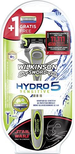 Wilkinson Sword Hydro 5 Sensitive Herren Rasierer Starterset mit 1 Ersatzklinge, (sortiert Edition nicht wählbar)