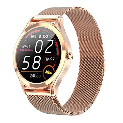 LTLJX Smartwatch Herren, Fitness Armband Voll Touchscreen ip67 Wasserdicht,Schrittzähler Uhr, Pulsmesser,Musiksteuerung, Smartwatch Damen Kinder, Fitness Uhr für iPhone Samsung,Gold