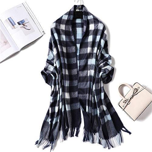 HUAHUA bufandas Caliente del otoño y del invierno bufandas, Pañuelo-mantón de la bufanda del babero del mantón capa de invierno caliente grueso imitación de la cachemira de la bufanda femenina británi