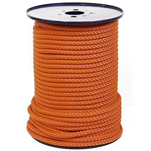 FTM® Springseil Tau Seil PP Orange Meterware Rollenware Ø 9mm Fitnessseil 3 Meter