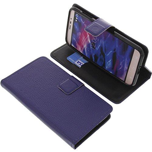 foto-kontor Tasche für MEDION Life E5006 Book Style blau Schutz Hülle Buch