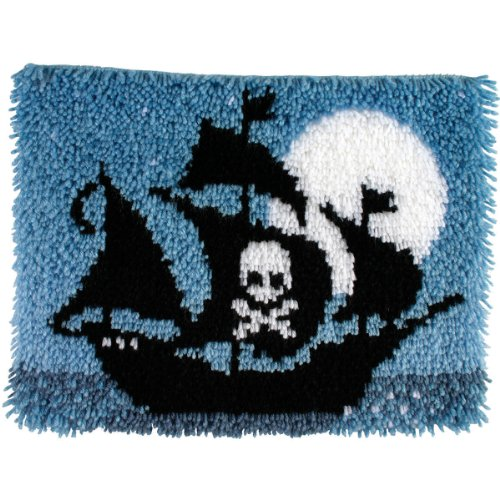 Spinrite Wonderart Latch Hook Kit, 15 by 20-Inch, Pirate Ship
